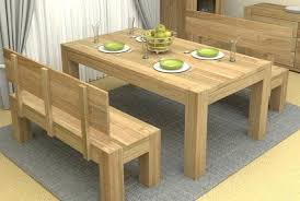 Amazing Dining Table Bench Seat With Back Small Throughout Modern W