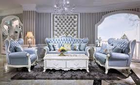 klassische italienische möbel barock rokoko 6tlg set sofa leder tisch komplett