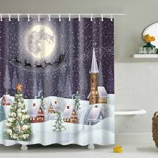 Fabric For Curtains Cheap by Wholesale Snowing Night Fabric Waterproof Christmas Shower Curtain