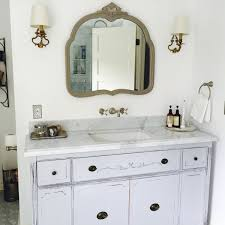 Shabby Chic White Bathroom Vanity by Bathroom Vanity For Double Or Single Sink We Custom Convert From
