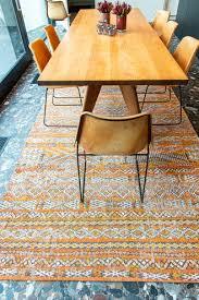 kilim vintage teppich orange