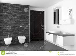 modernes badezimmer mit schwarzer steinwand stockbild bild