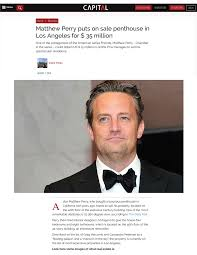 100 Penthouse Maga Matthew Perry Puts On Sale Penthouse In Los Angeles For 35