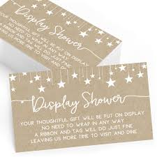 Gift Display Cards For Baby Shower Set Of 25 Gift Display And Insert Cards Baby Shower Games