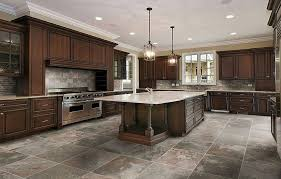 stylish gray and pink kitchen floor tile designs in lay
