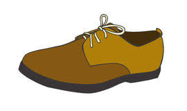 Mens Classic Shoes Leather Vector Illustration Sketch