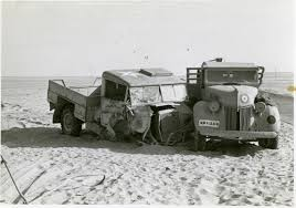 100 Wrecked Truck A Ford Truck Is Parked Next To A Wrecked USAAF Truck North Africa