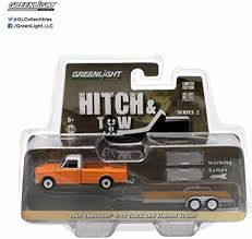 Greenlight 1969 Chevrolet C-10 Pickup Truck & Flatbed Trailer Hitch ...