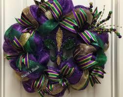 mardi gras wreath etsy