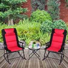 Giantex 3 PCS Outdoor Folding Rocking Chair Table Set, Red ... Charleston Acacia Outdoor Rocking Chair Soon To Be Discontinued Ringrocker K086rd Durable Red Childs Wooden Chairporch Rocker Indoor Or Suitable For 48 Years Old Beautiful Tall Patio Chairs Folding Foldable Fniture Antique Design Ideas With Personalized Kids Keepsake 3 In White And Blue Color Giantex Wood Porch 100 Natural Solid Deck Backyard Living Room Rattan Armchair With Cushions Adams Manufacturing Resin Big Easy Crp Products Generations Adirondack Liberty Garden St Martin Metal 1950s Vintage Childrens