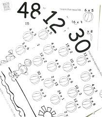 Multiplication Coloring Sheets Color By Numbers Addition Math