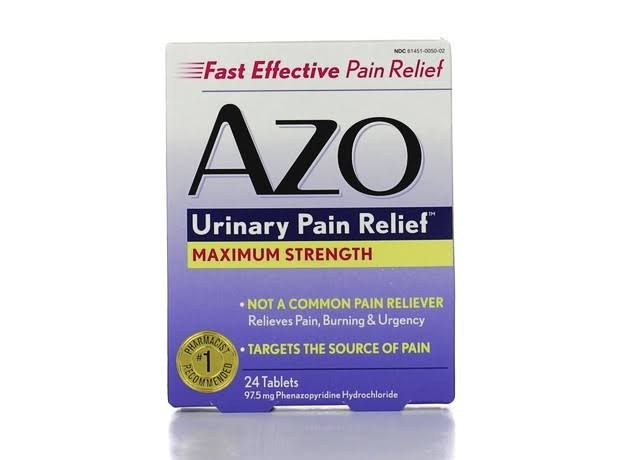AZO Maximum Strength Urinary Pain Relief Tablets - 24ct