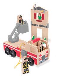 100 Fire Truck Parking Games Amazoncom Melissa Doug Whittle World Rescue Play Set