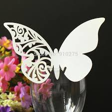 Cutting Simple Butterfly Vine Design Place Cards Pearl Paper Table Name Number Wedding Party Decoration AeProductgetSubject AeProduct