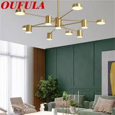 oufula moderne kronleuchter messing anhänger licht kreative dekoration geeignet für home wohnzimmer esszimmer schlafzimmer