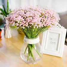 schleierkraut kunstblume 1 stücke 7 gegabelten beste für schlafzimmer büro hochzeit heim und als geschenk