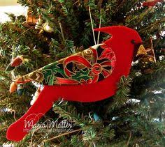 Cardinal Ornaments For My Mom Felt With Embellishments