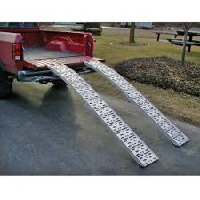 Arched Folding Lawn Mower Ramps 7'5