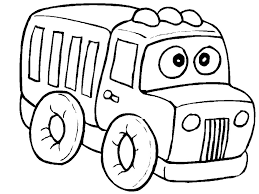 Funny Truck Coloring Page