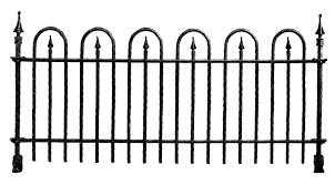 Halloween Cemetery Fence Ideas by Halloween Picket Fence Clipart Clipartxtras