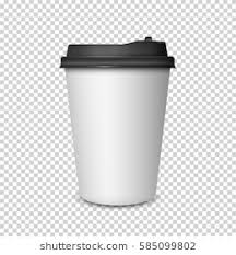 Coffee Cup On Transparent Background3d Mockup Vector Template