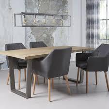 chaises fauteuil chaise fauteuil avec accoudoirs en tissu et bois geni anthracite