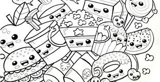 Cute Kawaii Coloring Pages Of Food Graphic