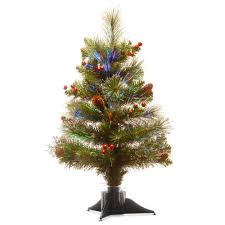 Fiber Optic Christmas Trees On Sale by National Tree Company 20 In Fiber Optic Crestwood Spruce Tree