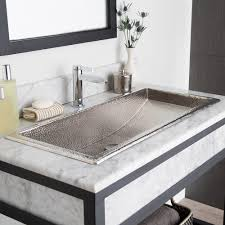 innovative double faucet bathroom sink and double faucet trough