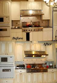 Painting Laminate Cabinets Before And After on