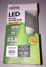 home luminaire led energy saving bulb warm white 60w equivalent