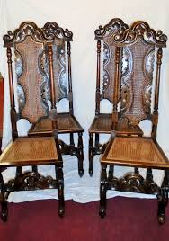 Four Charles II Style Oak Carolean High Back Caned Chairs - 7196 ... Rare Antique 19th Century American Gothic Handcarved Solid Oak High Back Black Leather Upholstered His Her Throne Chairs Vintage Handcarved Cane Highback Hooded Chair Set Of 8 62 Arts And Crafts Carved Oak Ding Chairs High For Kitchen Table Spanish Conquistador Contemporary Carved Wood Side 43 Sandy Brown Linen Natural Cedar Accent 31092775 About Us Italian Renaissance Style 20th Cent Mahogany Throne Chair With Lion Arms A Back Crest Stretcher Brown Country Armchair C Spning Bedroom Seating Russian Arm Newel Bishops Occasional Blue Lion