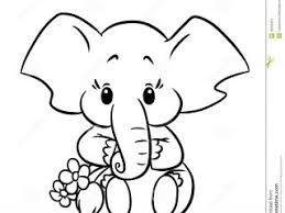 Free Coloring Book Baby Elephant Pages New On Minimalist