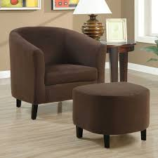 Leather Tufted Chair And Ottoman by Accent Chair And Ottoman Set Ideas Category Picture Living Room