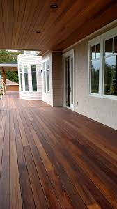 mahogany decking applied with penofin exotic hardwood exterior