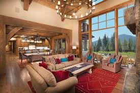 Gallery Wall Dining Room Living Rustic With Open Concept Red Accents
