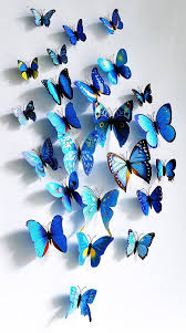 3D Three Dimensional Wall Stickers Butterfly Size 12 Suit Wedding Curtain Window Display Home Decoration