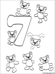 Number 7 Seven Coloring Page
