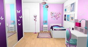chambre fille bleu et violet 8 ado 16 ans moderne 11 mauve blanc con