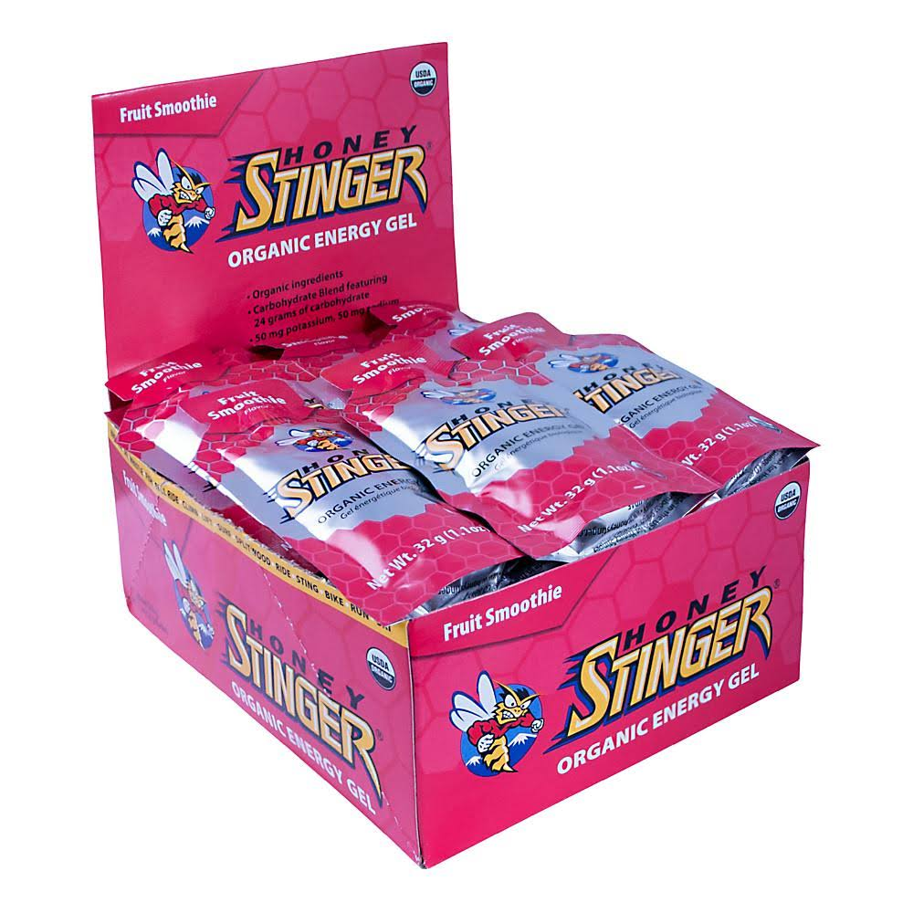 Honey Stinger Organic Energy Gel - Box of 24, Fruit Smoothie