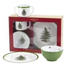 Spode Christmas Tree Mugs With Spoons by Spode Christmas Children U0027s 3 Pc Set Christmas Dishes Holidays