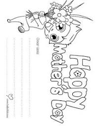 Mothers Day Kids Colouring Page
