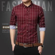 Sale 2016 New 8Color Fashion Shirt Mens Slim Fit Social Man Long Sleeve Shirts Clothing