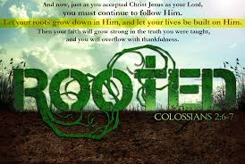 And Now Just As You Accepted Christ Jesus Your Lord Must Continue To Follow Him Let Roots Grow Down Into Lives Be Built On