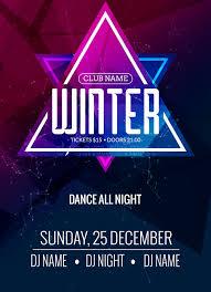 Download Dance Party Dj Battle Poster Design Winter Disco Music Event Flyer