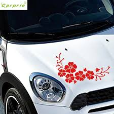 Car Decal Delicate Flying Flower Auto Pattern Truck Hood Side