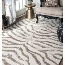 grey animal print rug