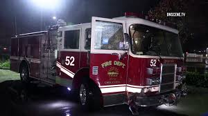 100 Emergency Truck Fire Truck Crashes Injuring Captain During Rainy Emergency Call