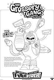 Charming Decoration Grossery Gang Coloring Pages The Canada Prints