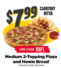799 2 Topping Medium Pizza And Howie BreadR